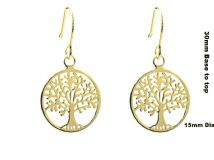 Sterling silver 18K Gold Vermeil TREE OF LIFE YGGDRASIL Earrings